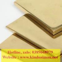 Đồng tấm vàng dày 12mm